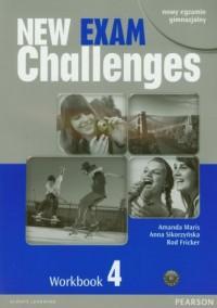 New Exam Challenges 4. Język angielski. Gimnazjum. Workbook (+ CD) - okładka podręcznika