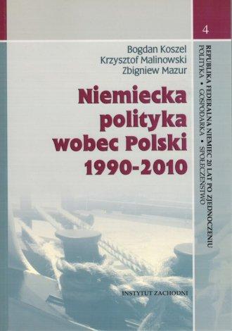 Niemiecka polityka wobec Polski - okładka książki