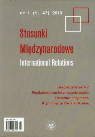 Stosunki Międzynarodowe. Tom 47, - okładka książki