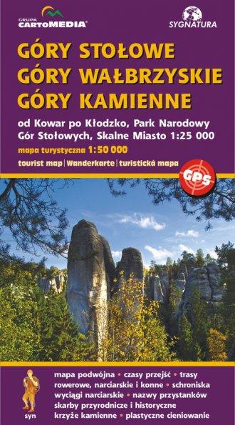 Góry Stołowe, Góry Wałbrzyskie, - okładka książki