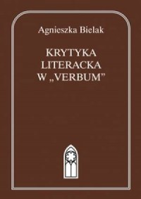 Krytyka literacka w Verbum - okładka książki