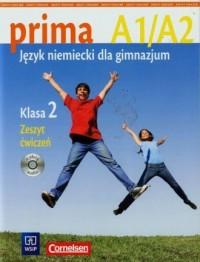 Prima A1/A2. Język niemiecki. Klasa 2. Gimnazjum. Zeszyt ćwiczeń - okładka podręcznika