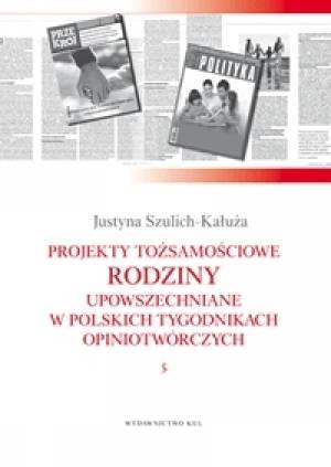 Projekty tożsamościowe rodziny - okładka książki