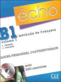 Echo B1. Język francuski. Ćwiczenia (+ CD) cz. 1 - okładka podręcznika