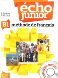 Echo Junior B1. Język francuski. Podręcznik (+ DVD-ROM) - okładka podręcznika
