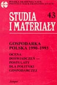 Gospodarka polska 1990-1993. Ocena - okładka książki