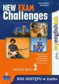 New Exam Challenges 2. Students Book. Język angielski. Gimnazjum - okładka podręcznika