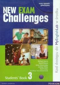 New Exam Challenges 3. Students Book. Język angielski. Gimnazjum - okładka podręcznika