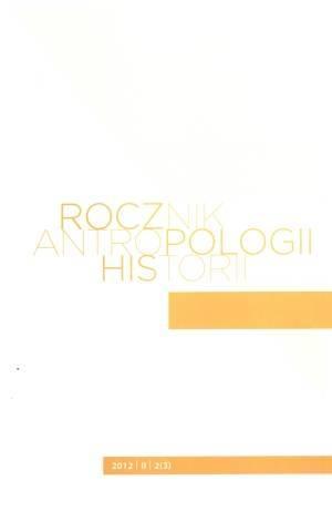 Rocznik Antropologii Historii 2/II/2012 - okładka książki