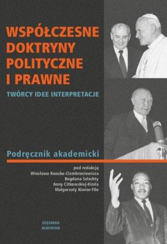 Współczesne doktryny polityczne - okładka książki