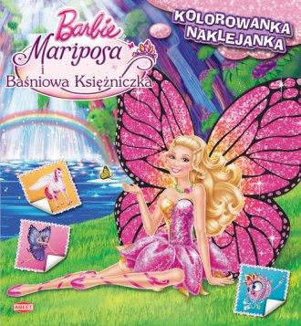 ksi��ka -  Barbie Mariposa i Ba�niowa Ksi�niczka. Kolorowanka z naklejkami - Wydawnictwo AMEET