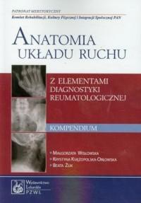 Anatomia układu ruchu z elementami diagnostyki reumatologicznej. Kompendium - okładka książki