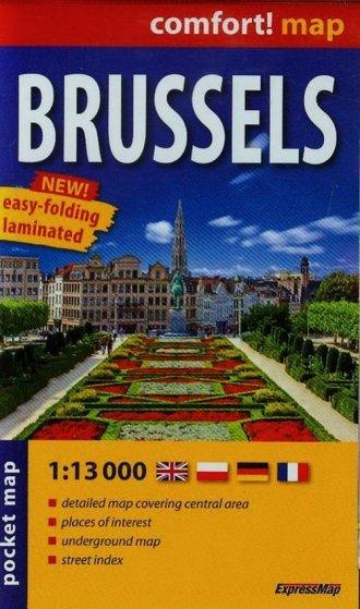 Brussels laminowany plan miasta - okładka książki