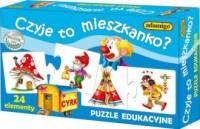 Czyje to mieszkano (puzzle edukacyjne) - zdjęcie zabawki, gry
