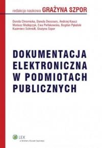 Dokumentacja elektroniczna w podmiotach publicznych - okładka książki