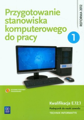 Przygotowanie stanowiska komputerowego - okładka podręcznika