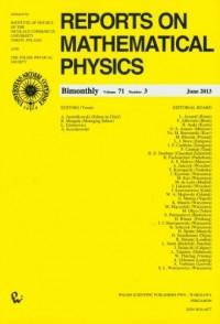 Reports on Mathematical Physics 71/3 - okładka książki