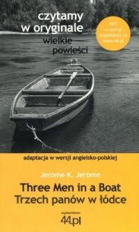 Trzech panów w łódce (wersja ang.-pol.). - okładka książki