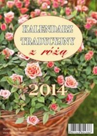 Kalendarz 2014. Tradycyjny z różą - okładka książki