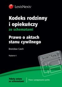 Kodeks rodzinny i opiekuńczy ze schematami - okładka książki