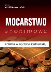 Mocarstwo anonimowe (ankieta w sprawie żydowskiej) - okładka książki