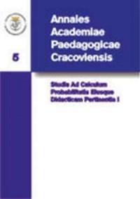 Annales Academiae Paedagogicae Cracoviensis. Tom 5. Studia Ad Calculum Probabilitatis Eiusque Didacticam Pertinentia I - okładka książki