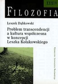 Filozofia XXXIV. Problem transcendencji - okładka książki