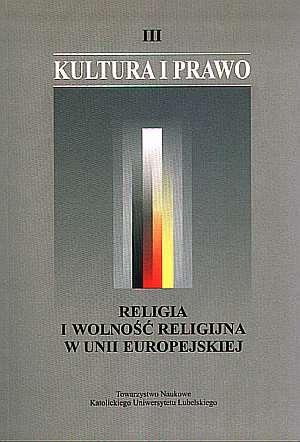 Kultura i prawo. Tom III. Religia - okładka książki