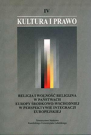 Kultura i prawo. Tom IV. Religia - okładka książki