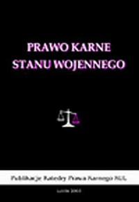 Prawo karne stanu wojennego - okładka książki