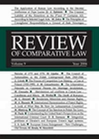 Review of Comparative Law. Vol. 9 - okładka książki
