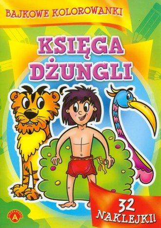 Bajkowe kolorowanki. Księga dżungli - zdjęcie zabawki, gry