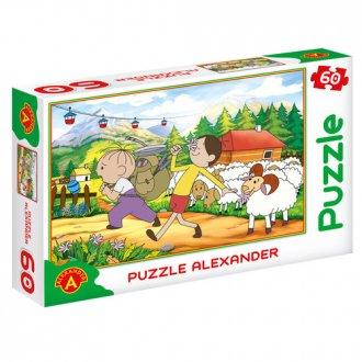Bolek i Lolek. Góry (puzzle - 60 - zdjęcie zabawki, gry