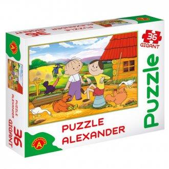 Bolek i Lolek na wsi (puzzle gigant - zdjęcie zabawki, gry