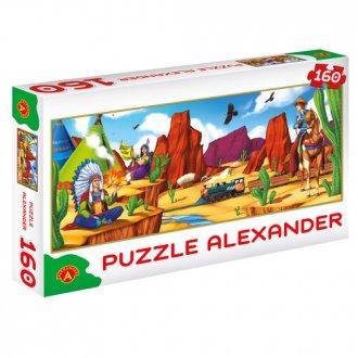 Czas kowbojów (puzzle - 160 elem.) - zdjęcie zabawki, gry