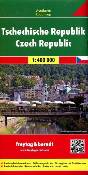 Czechy mapa drogowa (skala 1: 400 - okładka książki