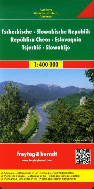 Czechy, Słowacja mapa drogowa (skala - okładka książki