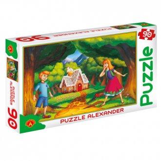 Jaś i Małgosia (puzzle - 90 elem.) - zdjęcie zabawki, gry