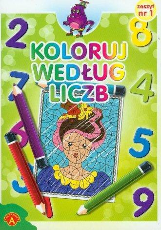 Koloruj według liczb zeszyt 1 - zdjęcie zabawki, gry