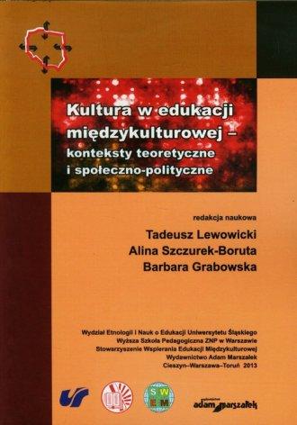 Kultura w edukacji międzykulturowej. - okładka książki