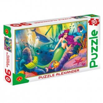 Mała Syrenka (puzzle - 90 elem.) - zdjęcie zabawki, gry