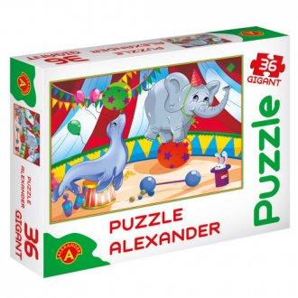 Mały cyrk (puzzle gigant - 36 elem.) - zdjęcie zabawki, gry