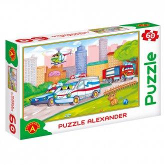 Samochody specjalne (puzzle - 60 - zdjęcie zabawki, gry