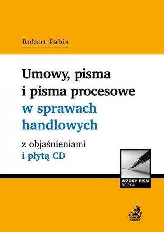 Umowy, pisma i pisma procesowe - okładka książki
