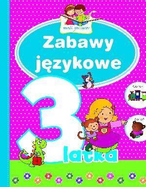 Zabawy językowe 3-latka. Mali geniusze - okładka książki
