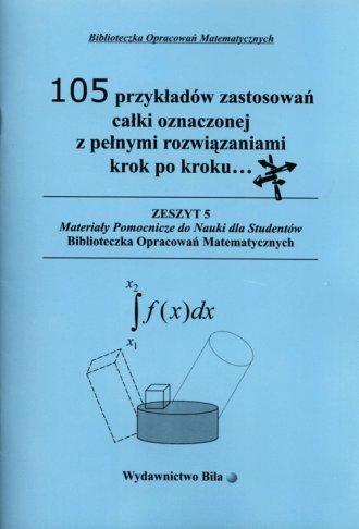 105 przykładów zastosowań całki - okładka książki