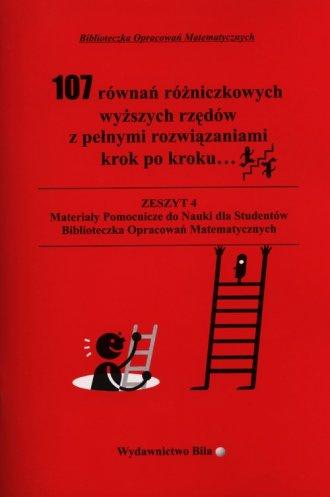 107 równań różniczkowych wyższych - okładka książki