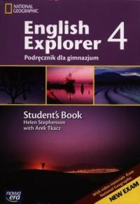 English Explorer 4. Język angielski. Gimnazjum. Podręcznik (+ Multi ROM). - okładka podręcznika