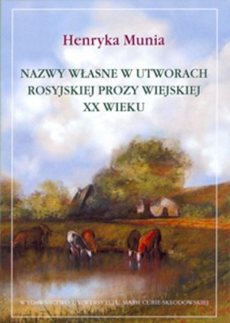 Nazwy własne w utworach rosyjskiej - okładka książki