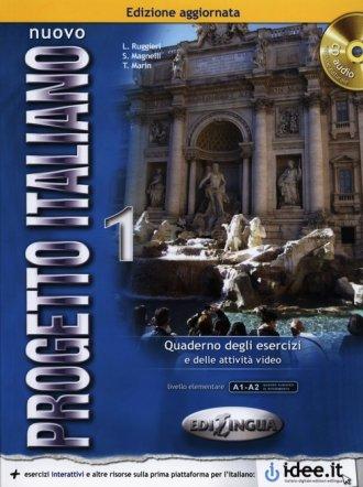 Nuovo Progetto Italiano 1. Ćwiczenia - okładka podręcznika